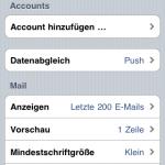 """Hier nun """"Account hinzufügen"""" auswählen"""