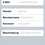 """""""E-Mail"""": bitte Ihre E-Mail-Adresse eingeben """"Domain"""": z.B. hkn.de """"Benutzername"""": hier noch einmal die E-Mail-Adresse angeben """"Kennwort"""": Ihr E-Mail-Passwort """"Beschreibung"""": ein Text Ihrer Wahl"""