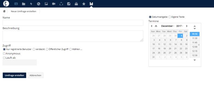 Nexxtcloud Poll Screenshot - 1