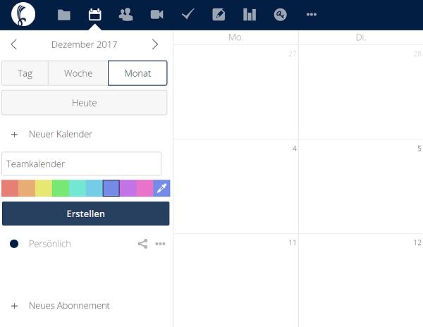 Nextcloud-Kalender Ansicht