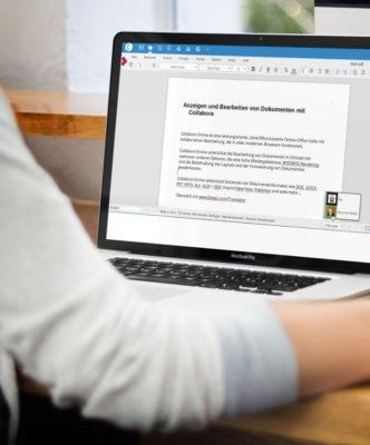 Nextcloud App mit Collabora für Dokumente, Tabellen und Präsentationen