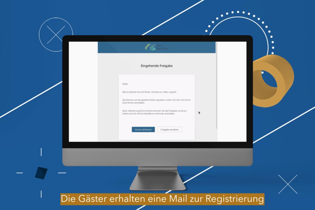 Nextcloud Registrierungsmail