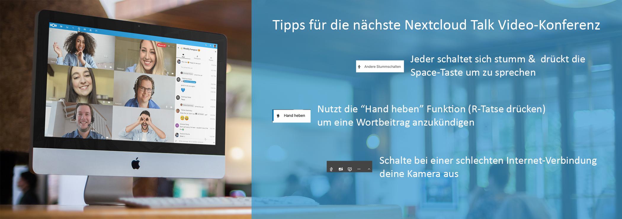Nextcloud Talk Tipps